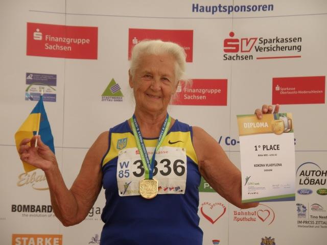 Рекордсменка світу. Біг на 800м Ж85 Владилена Кокіна