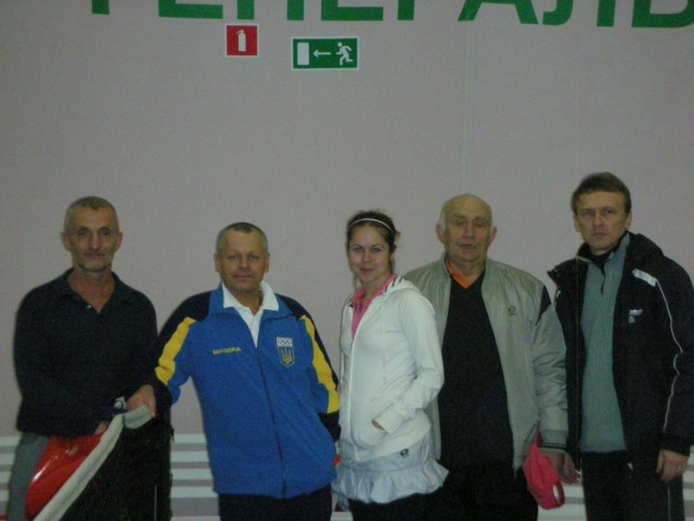Учасники турніру: Шулько С.. Василевський П. Рябцев В. разом з вболіваниками.