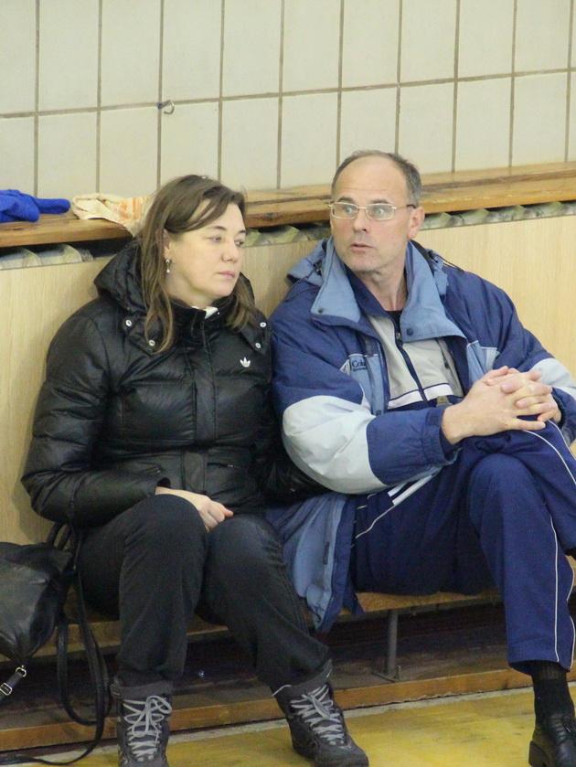 Почесний ветеран волейболу України Василь Павлюк («Авіакон») разом з дружиною Тетяною
