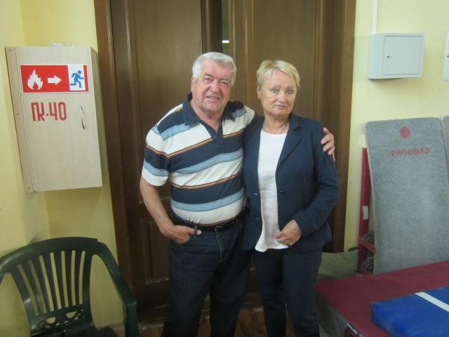 Прославленные ветераны гимнастики Леонид Спекторов и Любовь Росихина