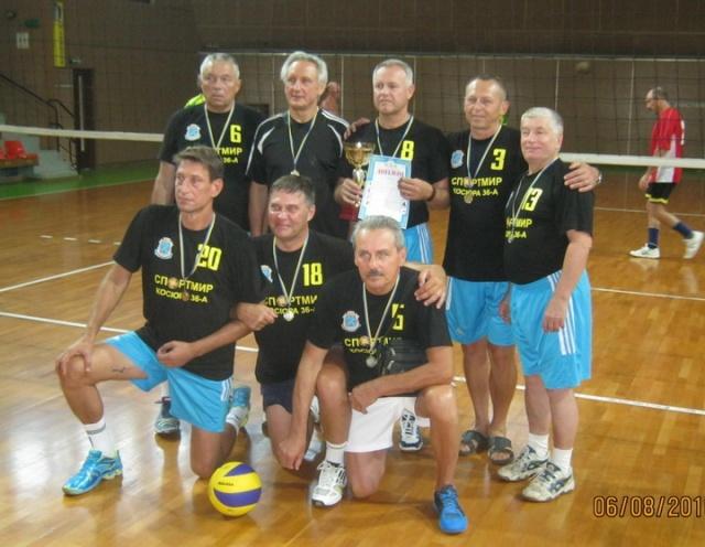 Победитель турнира 55+  команда г. Першотравенск (Днепропетровская обл.)